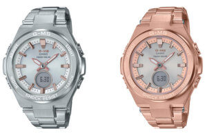 Casio Baby-G MSG-S200D-7A & MSG-S200DG-4A Full-Metal Stainless Steel with Tough Solar