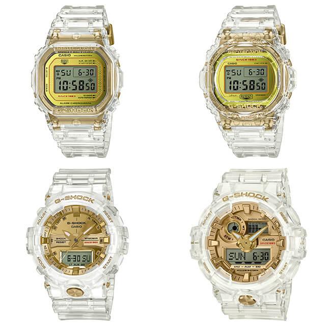 G-Shock Glacier Gold 35th Anniversary Limited Edition Series: DW-5035E-7 DW-5735E-7 GA-735E-7A GA-835E-7A DW-5035E-7JR DW-5735E-7JR GA-735E-7AJR GA-835E-7AJR