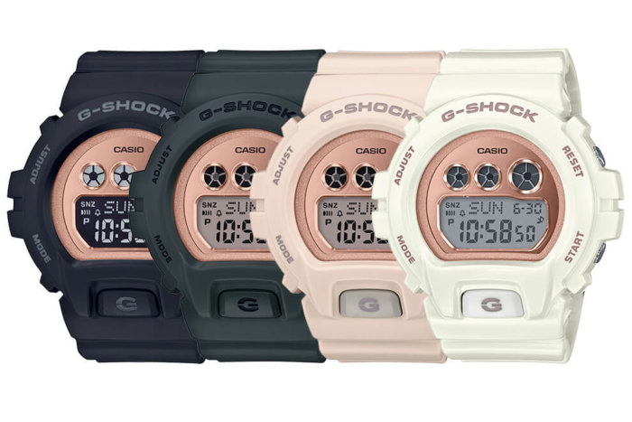 G-Shock GMDS6900MC S Series with Metallic Mirror Rose Gold Face