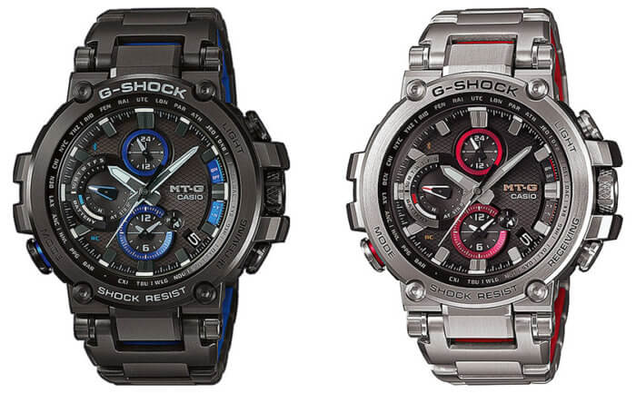 G-Shock MTG-B1000BD-1A & MTG-B1000D-1A with Stainless Steel Band