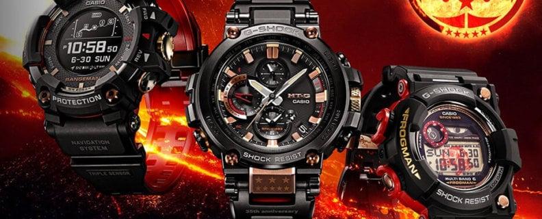 G-Shock 35th Anniversary Magma Ocean Collection with Rangeman, Frogman, MT-G