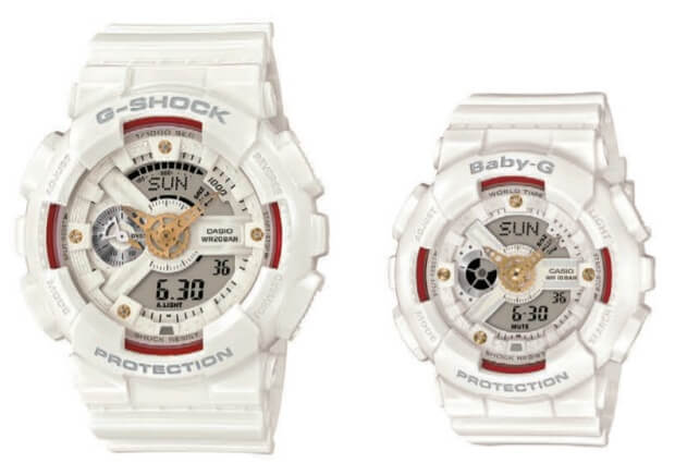 G-Shock GA-110DDR-7A & Baby-G BA-110DDR-7A with Natural Diamond Accents