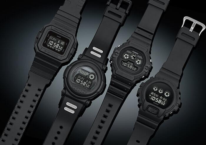 Classic Basic Black G Shock Series 4 Retro Digital Watches
