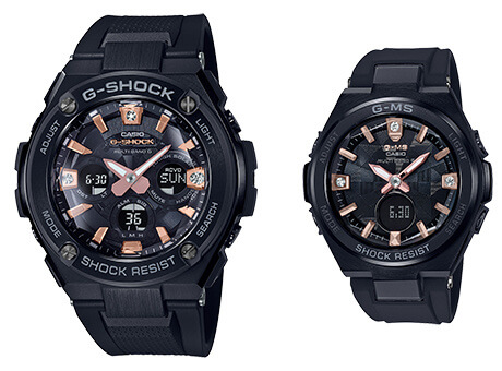 G-Shock G-STEEL GST-W310BDD and Baby-G G-MS MSG-W200BDD with Natural Diamond Accents