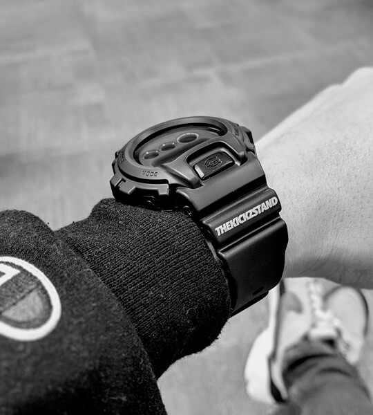 The Kickz Stand x G-Shock DW-6900 Watch Wrist Shot