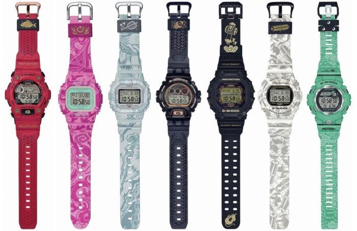 G-Shock Seven Lucky Gods Shichi-Fuku-Jin Collection: G-7900SLG-4 BGD-560SLG-4 DW-5600SLG-7 DW-6900SLG-1