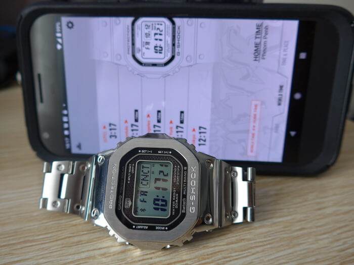 GMW-B5000D-1 with Bluetooth mobile link and G-Shock Connected app