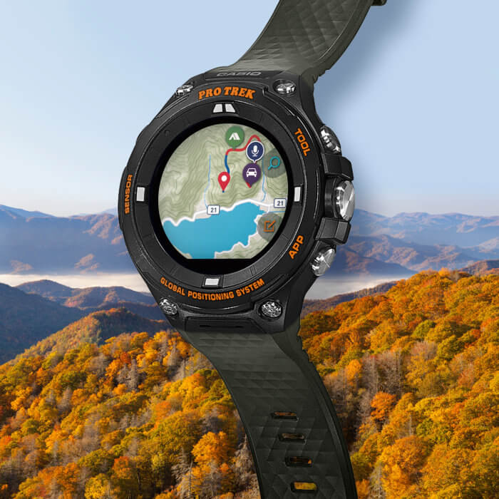 Pro Trek Smart WSD-F20AGN Outdoor Smartwatch in moss green