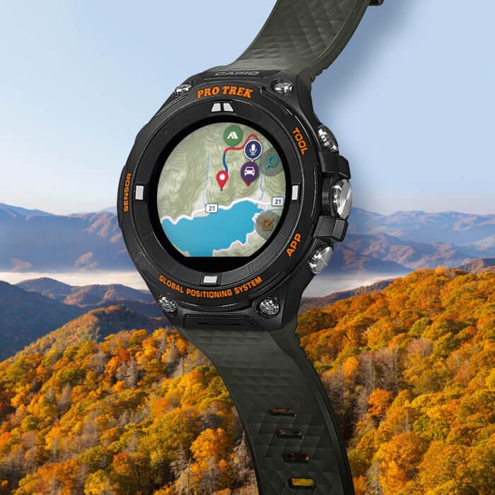Pro Trek Smart WSD-F20AGN Outdoor Smartwatch in moss green