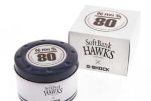 Fukuoka SoftBank Hawks x G-Shock DW-5600 Tin Case and Box