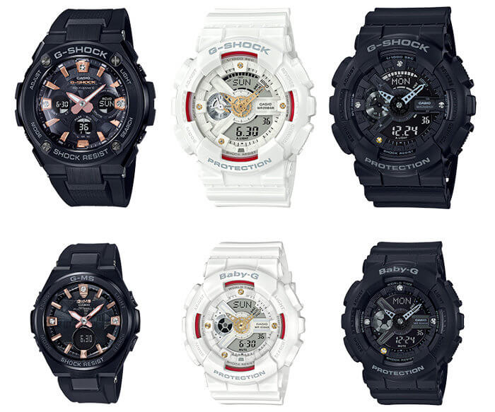 G-Shock Baby-G G Presents Lovers Collection 2018, Precious Heart Selection, GA-110DDR-7A & BA-110DDR-7A