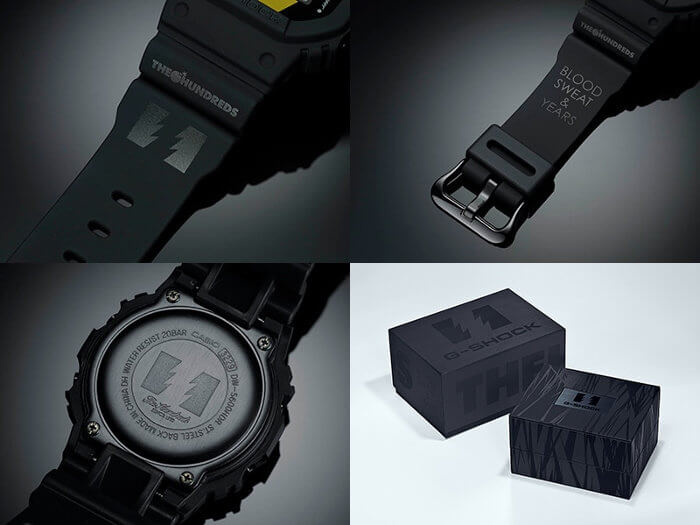 The Hundreds x G-Shock DW-5600HDR Bands, Case Back, Box