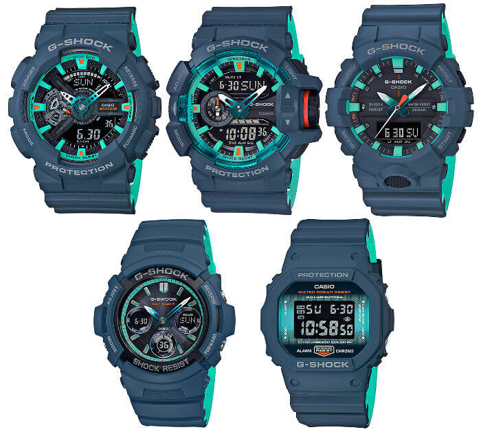 G-Shock Navy Blue Accent Series November 2018
