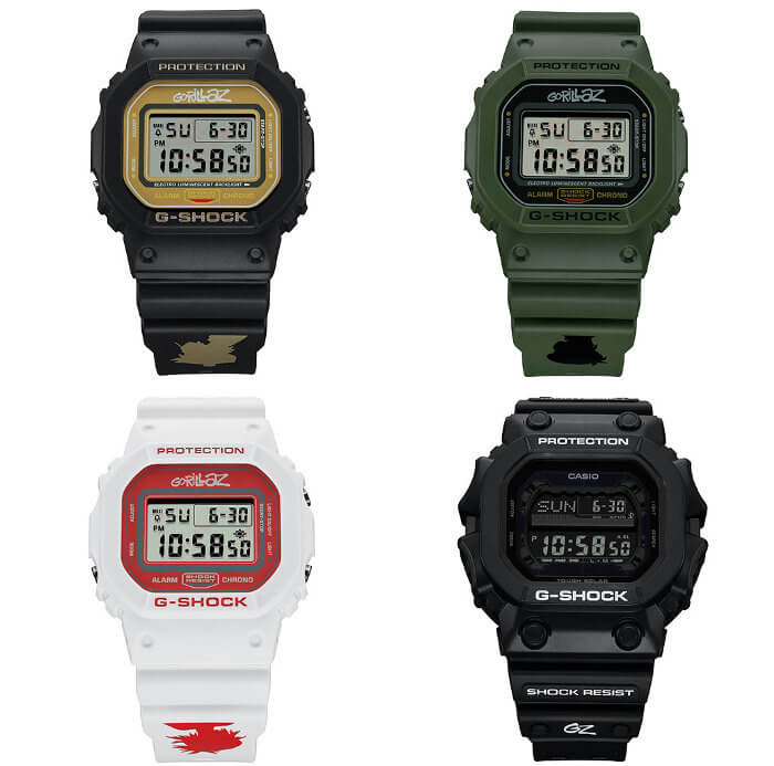 Gorillaz x G-Shock DW-5600 GX-56 Limited Edition Collaboration Watches