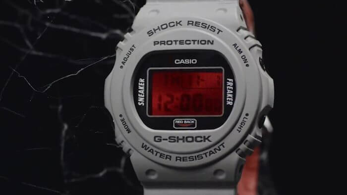 "Sneaker Freaker x G-Shock DW-5700 ""Redback"" Collaboration Watch 2018"