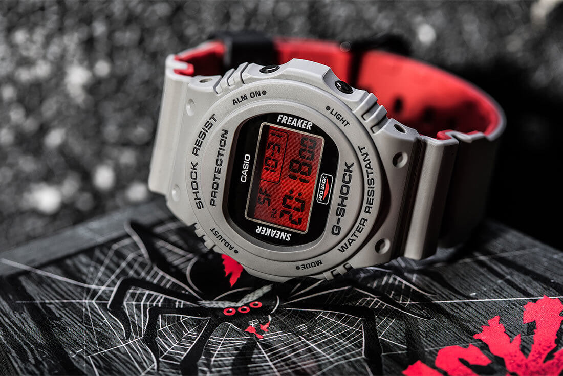 24872942ae Sneaker Freaker x G-Shock DW-5700 Redback Collaboration Watch for Halloween  2018