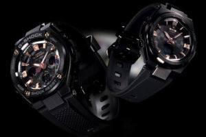 G-Shock G-STEEL GST-S310BDD-1A and Baby-G G-MS MSG-S200BDD-1A with Natural Diamonds and Multi-Faceted Glass