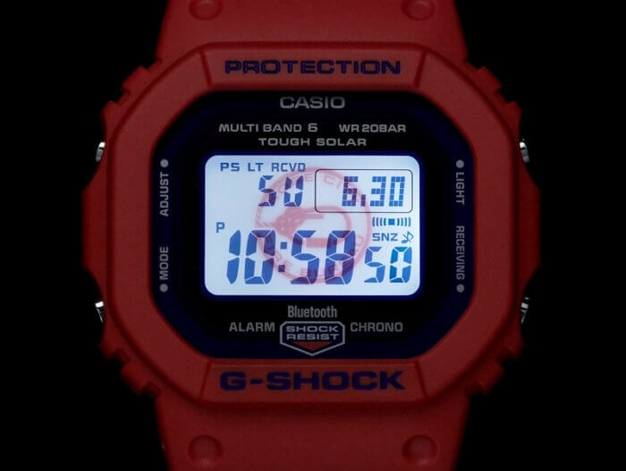 G-Shock GW-B5600FB x Kobe City Fire Bureau (Department) Backlight Graphic