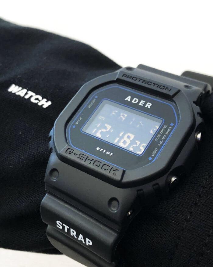 Ader Error x G-Shock DW-5600ADER-1DR Wrist Shot