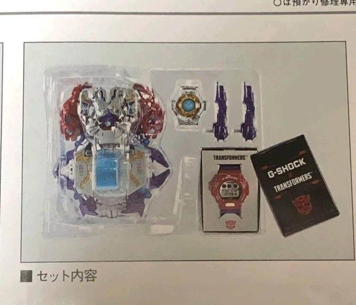 Transformers x G-Shock DW-6900TF-SET Master Optimus Prime Contents