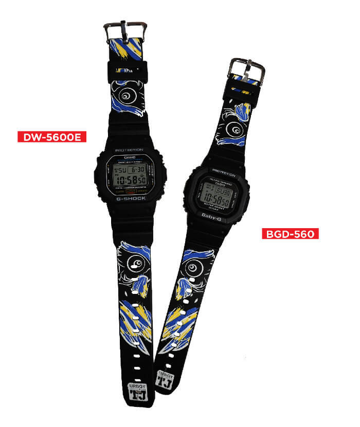 G-Shock x UrboyTJ Limited Edition DW-5600 Baby-G BGD-560 Collaboration Watches