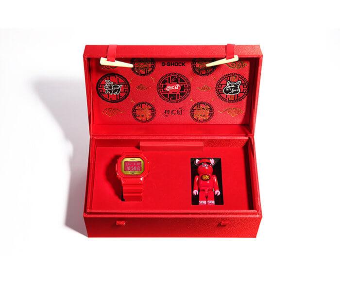 ACU x Be@rbrick x G-Shock DW-5600CX-4PRP Case