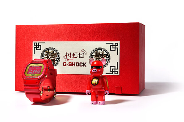 ACU x Be@rbrick x G-Shock DW-5600CX-4PRP Box