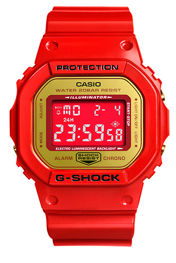 ACU x Be@rbrick x G-Shock DW-5600CX-4PRP Chinese New Year Watch