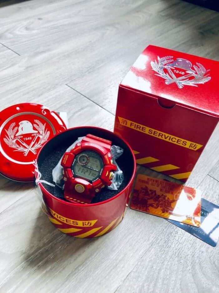 Hong Kong Fire Services Department 150th Anniversary x G-Shock Rangeman GW-9400FSD-4 Box