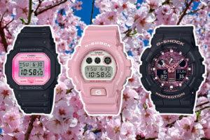 G-Shock Sakura Storm Cherry Blossom DW-5600TCB-1JR DW-6900TCB-4JR GA-100TCB-1AJR