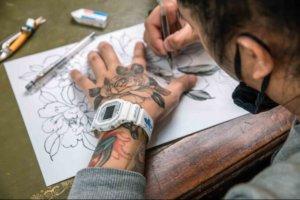 Kubrick x G-Shock DW-5600MWTNY Tattoo Artist