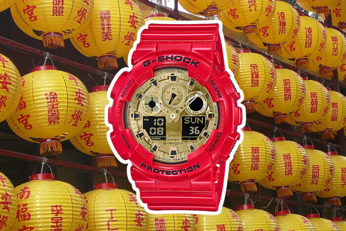 G-Shock GA100VLA-4A Red and Gold Chinese New Year Colors