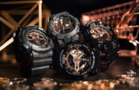 G-Shock Black and Rose Gold MMC Series