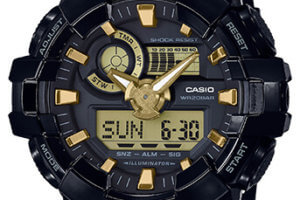 G-Shock Glossy Black and Gold GBX Analog-Digital Series