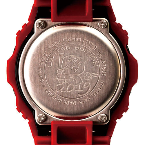 Hiroshima Carp x G-Shock DW-5750 for 2019 Case Back