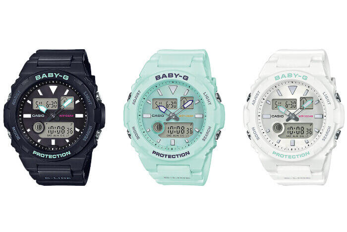 Baby-G BAX-100 with Tide and Moon Graph: BAX-100-1A BAX-100-3A, BAX-100-7A
