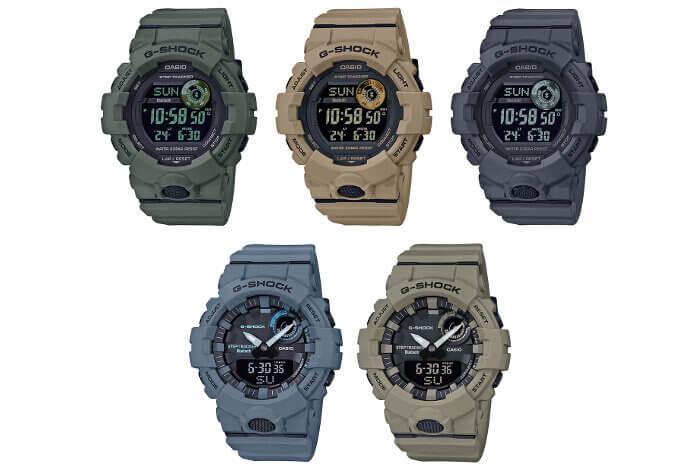 G-Shock GBA-800UC GBD-800UC Utility Color: GBA-800UC-2A GBA-800UC-5A GBD-800UC-3 GBD-800UC-5 GBD-800UC-8