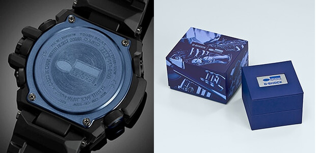 Blue Note Records x G-Shock G-STEEL GSTB-100BNR-1A Case Back and Box