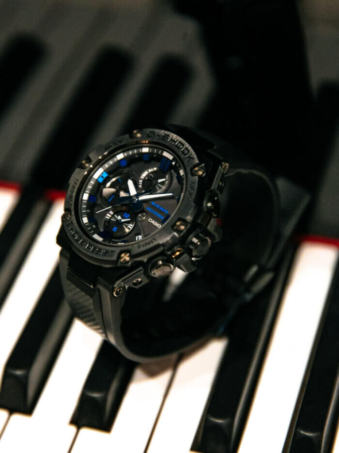 Blue Note Records x G-Shock G-STEEL GSTB100BNR-1A for 80th Anniversary