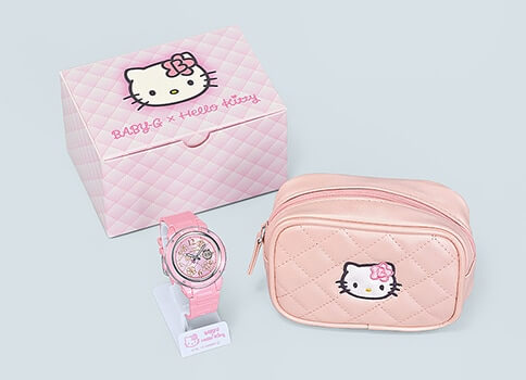 "Hello Kitty x Baby-G ""Pink Quilt Series"" Collaboration for 2019 Box and Packaging"
