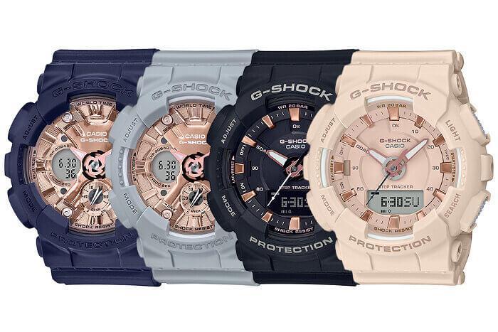 G-Shock S Series GMA-S120MF-2A2 GMA-S120MF-8A GMA-S130PA-1A GMA-S130PA-4A