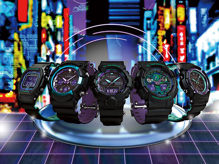 G-Shock 90s Color Purple Series