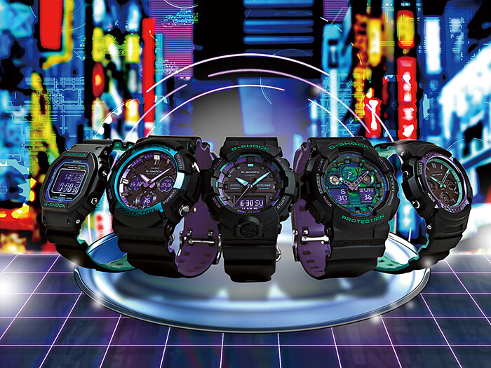 G-Shock '90s Color Blue and Purple Accent Series – G-Central G-Shock Watch Fan Blog