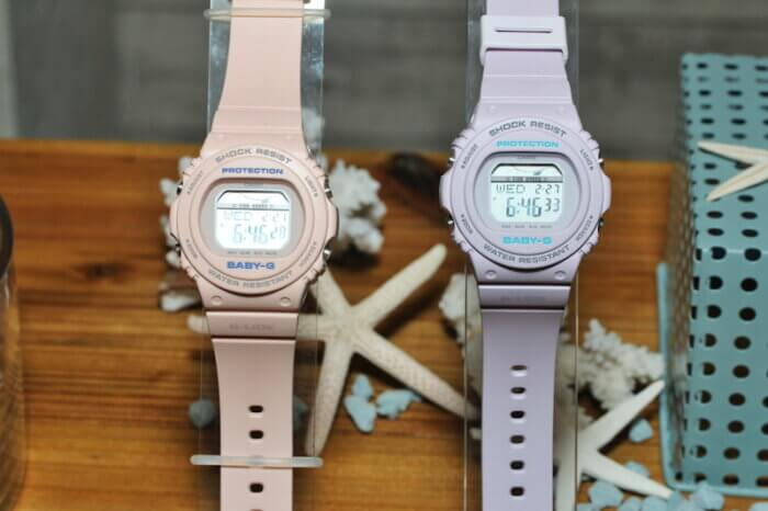 Baby-G G-LIDE BLX-570 BLX-570-4 BLX-570-6 Pastel Pink and Purple with Tide Graph