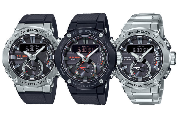 G-Shock G-STEEL GST-B200: GST-B200-1A GST-B200B-1A GST-B200D-1A Carbon Core Guard with Tough Solar and Bluetooth Mobile Link