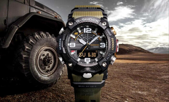 G-Shock GG-B100 Mudmaster with Quad Sensor (Triple Sensor + Step Counter), Bluetooth, Carbon Fiber Bezel
