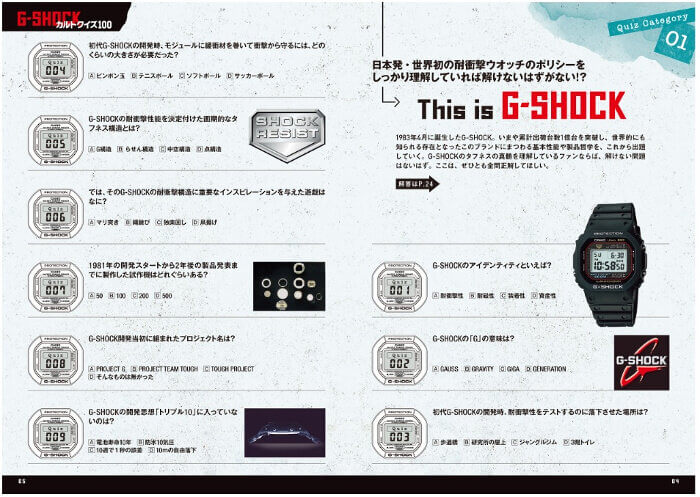 G-Shock Cult Quiz 100 Book Contents