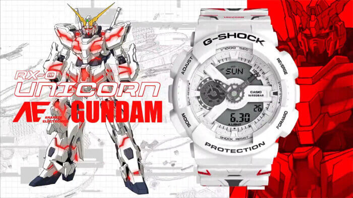 GA-110MW-7APRGD RX-0 Unicorn Gundam Robot