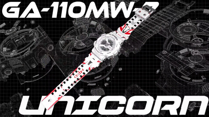 GA-110MW-7APRGD RX-0 Unicorn Gundam