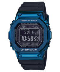 G-Shock GMW-B5000G-2 Blue IP with Black Resin Band